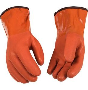 "8182 THERMAL ACRYLIC LINED SANDY FINISH PVC 12"" GAUNTLET GLOVES"