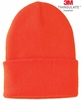 8T176-BLZ THINSULATE&#153 INSULATED BLAZE ORANGE KNIT CUFF HAT