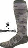 9063 BROWNING&#174 HEAVYWEIGHT MERINO WOOL BLEND CAMO SOCKS<BR>CLOSEOUT PRICE $7.99