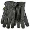 93HK DELUXE BLACK GRAIN GOATSKIN HEATKEEP&#174 INSULATED DRESS STYLE DRIVERS GLOVES