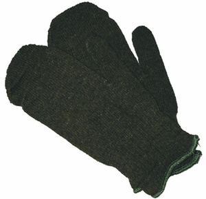 FB-C3750  GREEN RAGG WOOL BLEND MITTEN OR MITTEN LINER