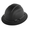 HH-F1-C GRAPHITE FULL BRIM STYLE UNVENTED HARD HATS w/6-POINT RATCHET SUSPENSION