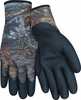 MO-22 CHILLY GRIP&#174 WATER RESISTANT THERMAL LINED CAMO GLOVES w/NITRILE PALM & FINGERTIPS