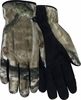 MO-51 PREMIUM BLACK SUEDE DEERSKIN PALM w/FLEECE BACK & HEATSAVER&#174 LINED CAMO GLOVES