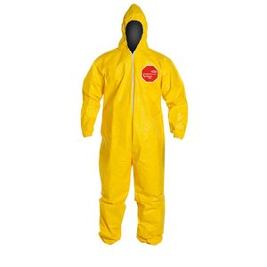 QC127S DUPONT&#153 TYVEK&#174 TYCHEM&#174 CHEMICAL PROTECTIVE HOODED COVERALLS