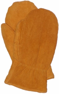 SWM101 FRONTIER SUEDE DEERSKIN PILE LINED MITTENS<BR>CLOSEOUT PRICE $11.99