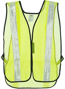 "V121W TYPE 0 NON-RATED HI-VIS MESH SAFETY VESTS w/2"" REFLECTIVE STRIPING<BR>CLOSEOUT PRICE $3.99"
