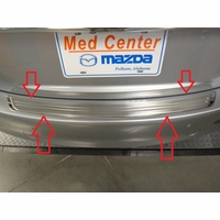 2018 Mazda 6 Rear Bumper Guard Stainless Steel 00008TH02