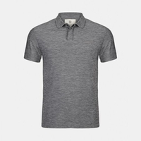 Mazda Men's Cationic-Dyed Flag Polo Gray ESSRE1