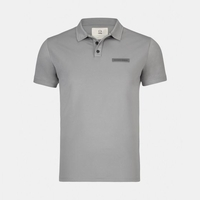 Mazda Men's Custom-Dyed Pique Polo Gray ESSP1