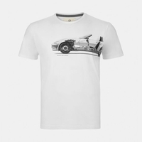 Mazda Men's MX-5 Chassis Print Cotton T-Shirt ESST4WHITE