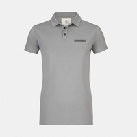 Mazda Womens Custom-Dyed Flag Pique Polo Gray ESSP1WL