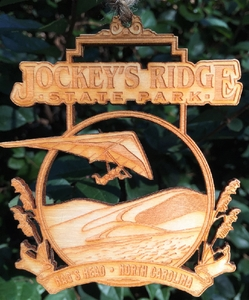 Jockey's Ridge State Park Wood Christmas Ornament