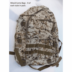 Camo Backpack Set - 12 Piece