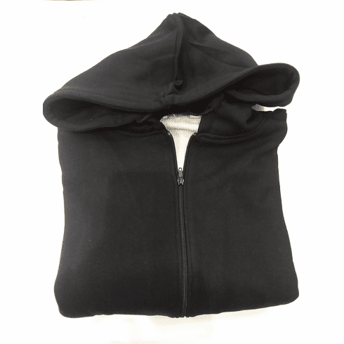 Cotton Hoodie With Thermal - Black