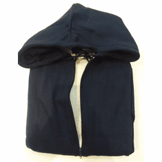 Cotton Hoodie With Thermal - Navy