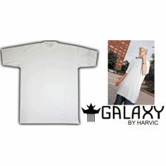 Galaxy By Harvic - Long Oversized White Tall T-Shirt (72 Pieces)