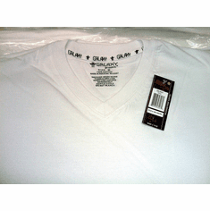 Galaxy V-NECK  T-SHIRTS Tee MVT-280 with Free Shipping Galaxy by Harvic 12 Pc 100% cotton