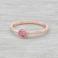 14K Rose Gold and Bezel Set Pink Diamond Ring