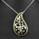 18k White Gold & Diamond Paisley Pendant