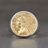 1909 U.S. $2.50 Indian Head Gold Coin Ring