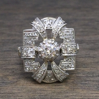 1920's Platinum Art Deco Ring