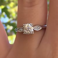 Charise - Platinum & Diamond 1930's Vintage Engagement Ring