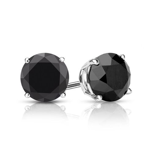 2.17ctw Black Diamond Stud Earrings