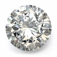 1.96ct Round Brilliant Diamond, Lab Grown, H Color, SI1 Clarity, Ideal Cut