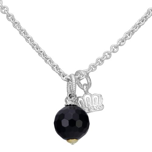 Sterling Silver,14 Yellow Gold & Black Onyx Necklace by Alwand Vahan