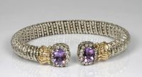 Diamond and Amethyst Bangle Bracelet by Alwand Vahan
