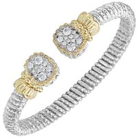 Sterling Silver, 14k Yellow Gold & Diamond Bracelet by Alwand Vahan