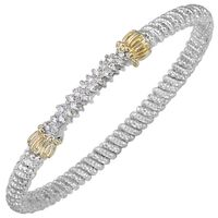 Sterling Silver & 14k Yellow Gold Diamond Bracelet by Alwand Vahan