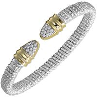 Sterling Silver, 14k Yellow Gold & Diamond Nuvo Bracelet by Alwand Vahan