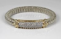 Diamond Pave Design Bracelet by Alwand Vahan