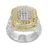 Sterling Silver & 14k Yellow Gold Diamond Ring by Alwand Vahan