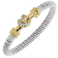 14k Yellow Gold, Sterling Silver & Diamond Love Knot by Vahan