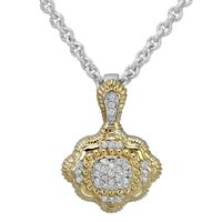 Sterling Silver & 14k Yellow Gold with Diamond Accented Pendant by Alwand Vahan