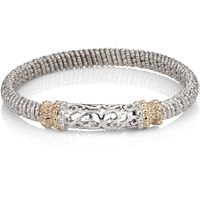 "Alwand Vahan Sterling Silver & 14K Gold ""Lattice"" Style Bracelet -20621"