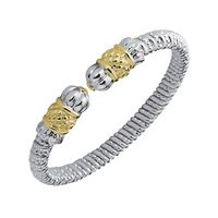 Alwand Vahan Sterling Silver and 14K Gold Bracelet - Fleuron