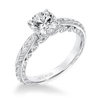 Anwen 14K White Gold Engagement Ring by ArtCarved