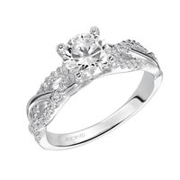 Braided 14kt White Gold an Diamond Engagement Ring By ArtCarved