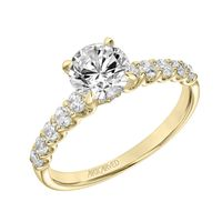 14kt Yellow Gold and Diamond Engagement Ring by ArtCarved