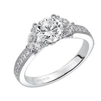 14kt White Gold and Diamond Engagement Ring by ArtCarved