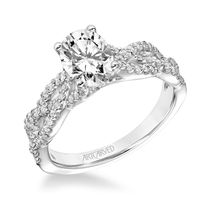 Braided 14kt White Gold and Diamond Engagement Ring by ArtCarved