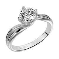 """14kt White Gold and Diamond """"Twist"""" Engagement Ring by ArtCarved"""