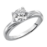 14kt White Gold Engagement Ring by ArtCarved
