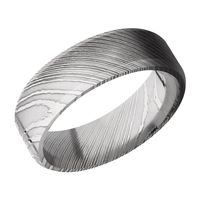 Damascus Steel Mens Wedding Band By Lashbrook Designs