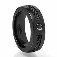 Black Titanium, Black Cable & Black Spinel Ring