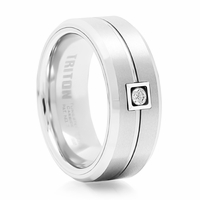 Bute White Tungsten & Diamond Band